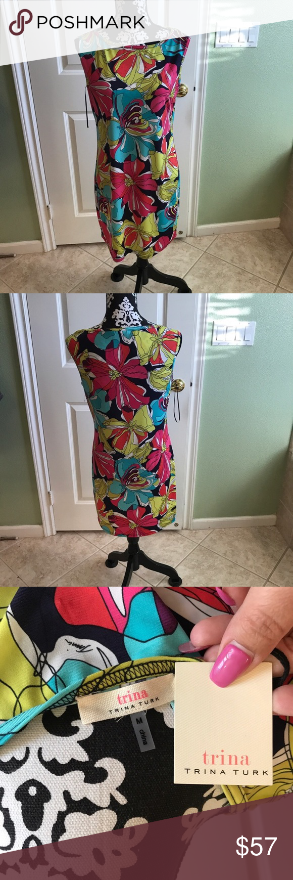 Trina Turk Floral Dress NWT Brand new never worn lightweight soft and comfortable perfect for spring and any occasion Trina Turk Dresses Midi