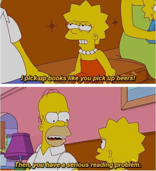 Lisa has a serious reading problem.