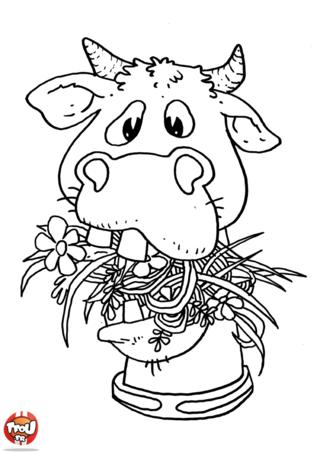 Coloriage vache recherche google dessin colorier pinterest vaca - Vache normande dessin ...