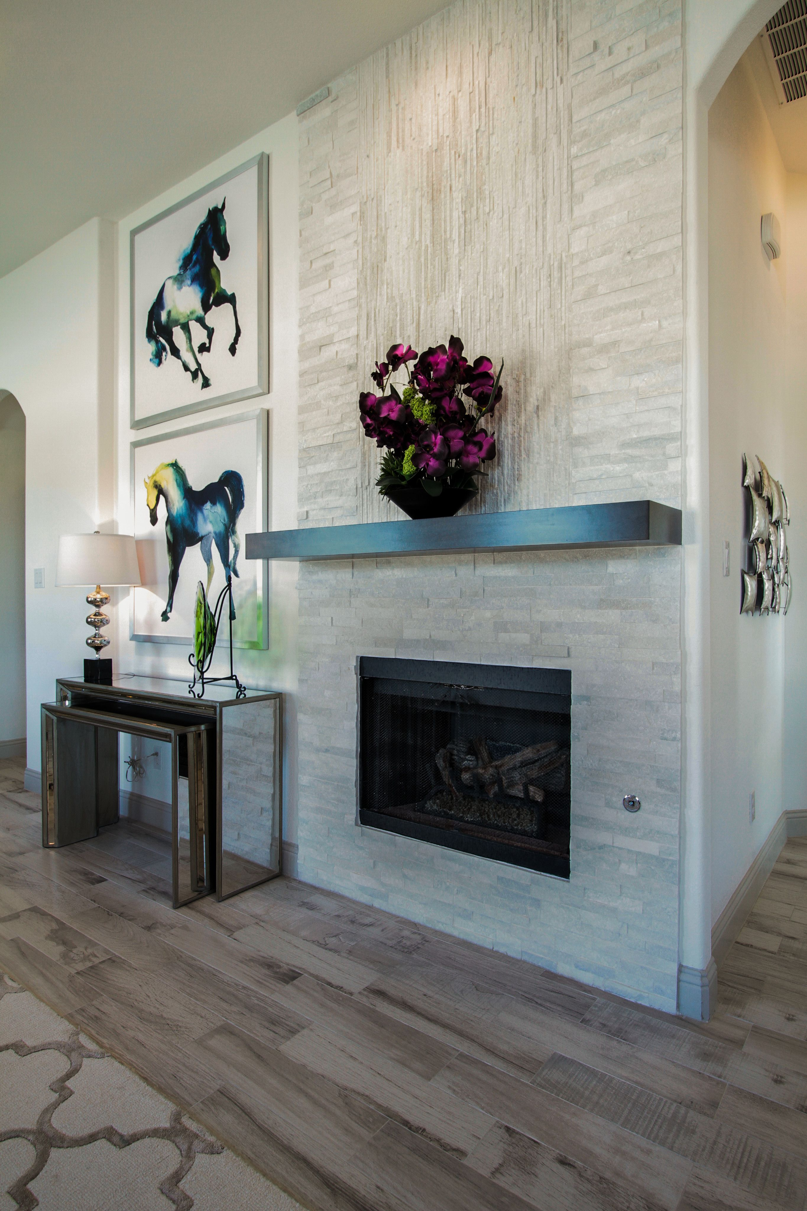 Gehan Homes Laurel Fireplace Grey Stone Fireplace Floor