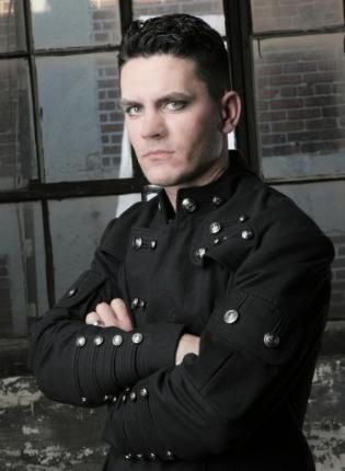 demigod biohazard apocaliptick angel goth mens jacket,  Sweater, goth  jacket  military  steam punk, Gothic