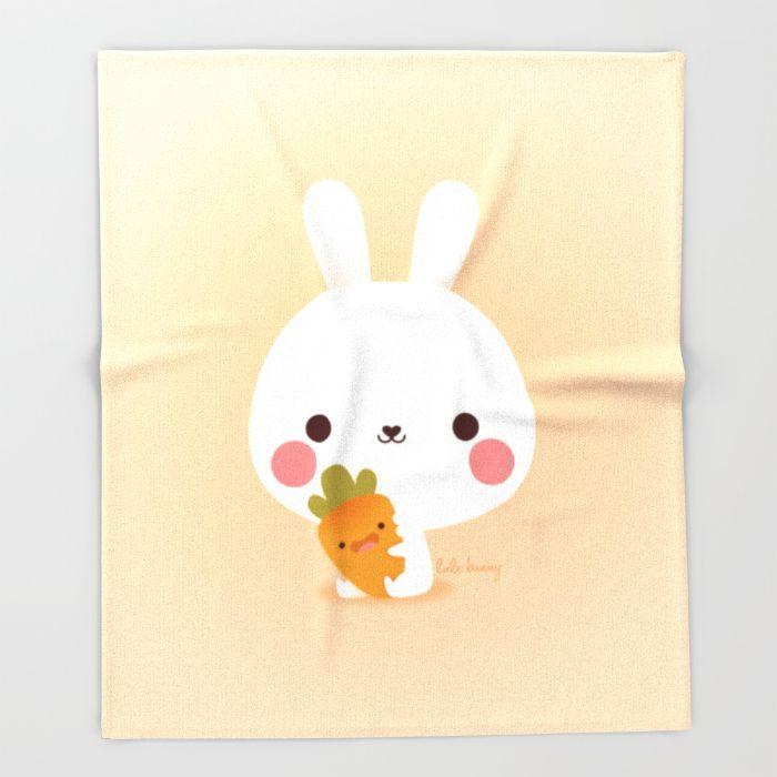 Friday Carrot Throw Blanket