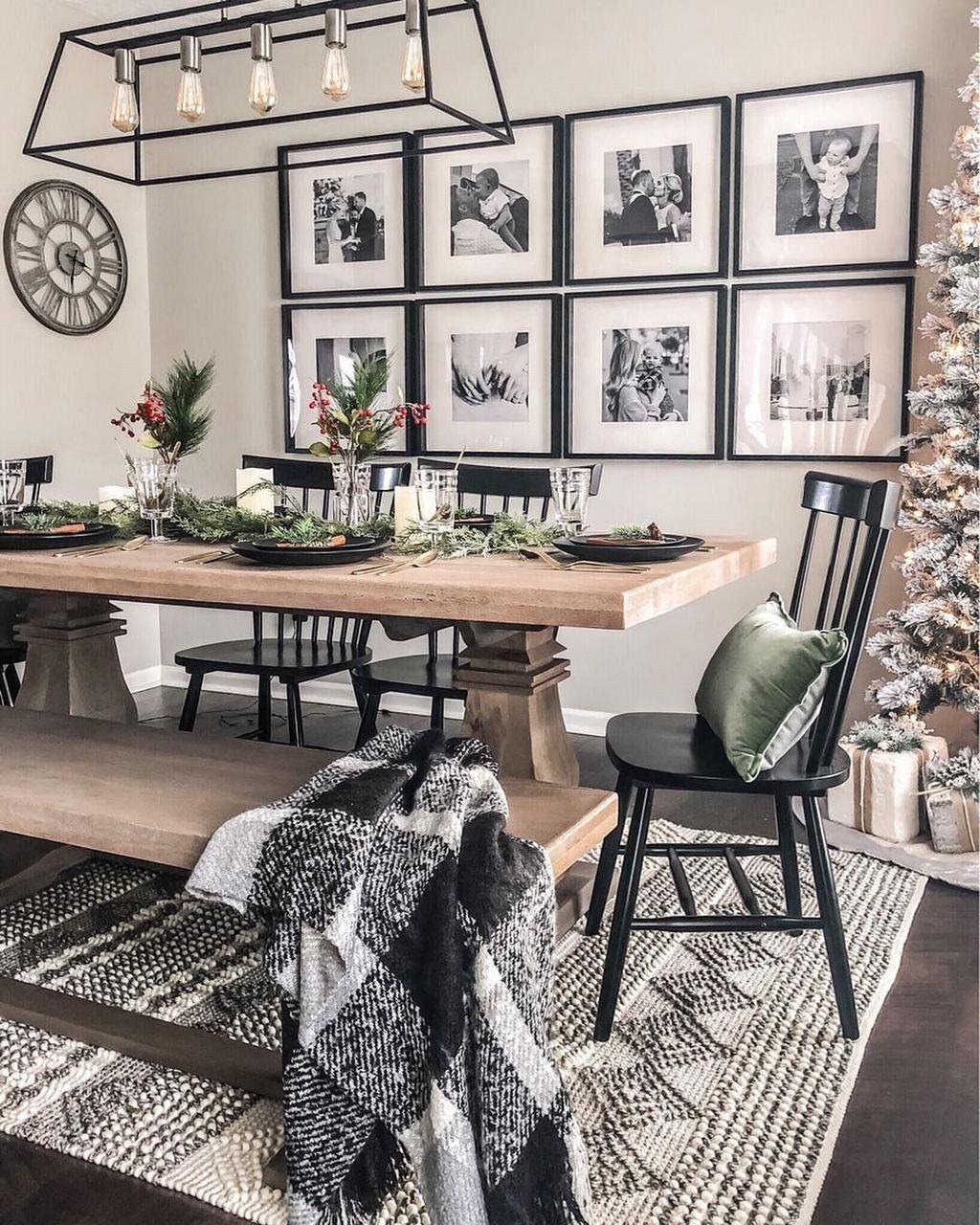 42 elegante schwarze Esszimmer Ideen #décosalleàmanger