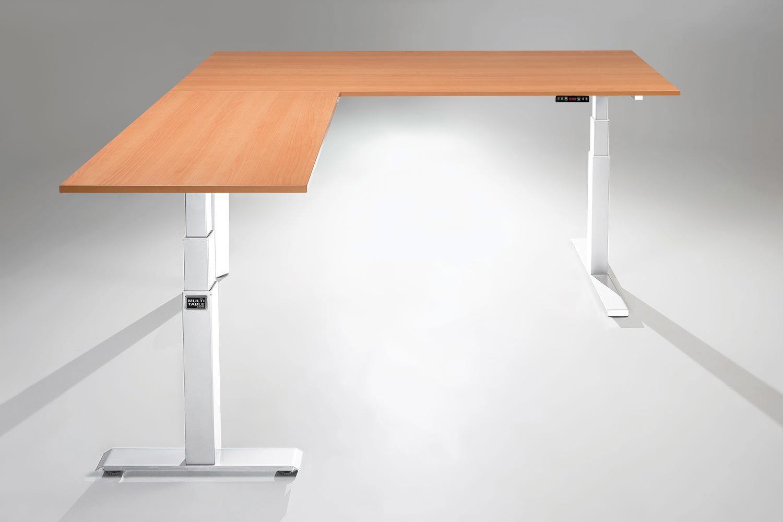The Mod E Pro Electric L Shaped Standing Desk Multitable In 2020 Adjustable Height Standing Desk L Shaped Desk Desk
