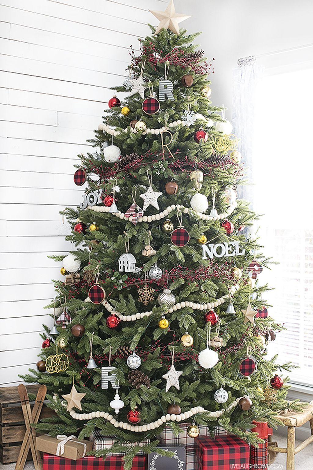 beautiful and elegant rustic christmas tree decoration ideas