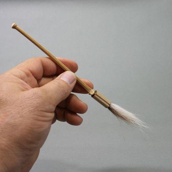 White Tail Deer Paint Brush, Handmade Bamboo Paintbrush