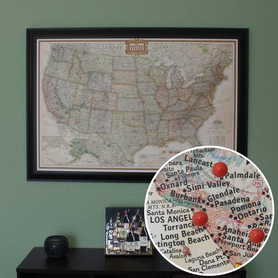 Personalized Us Map.Personalized Us Travel Map With Pins And By Pushpintravelmaps