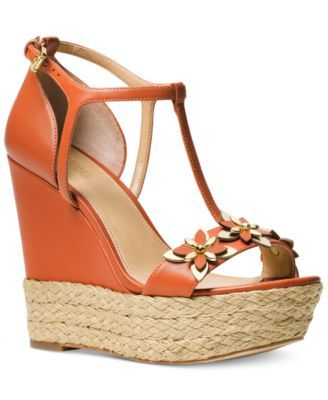 2a3b7a3809fb MICHAEL Michael Kors Heidi Wedge Sandals