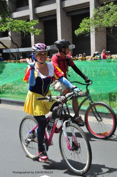 Tour of the Fireflies Bike Ride Snow White Costume