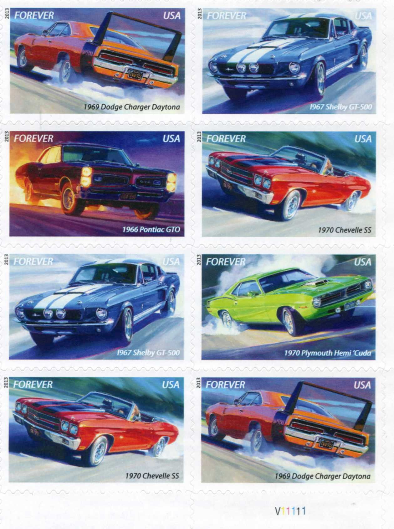 Postage Stamps Sports Cars Usa