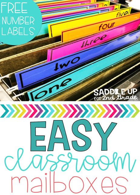 Easy Student Mailboxes to Control the Paper Chaos