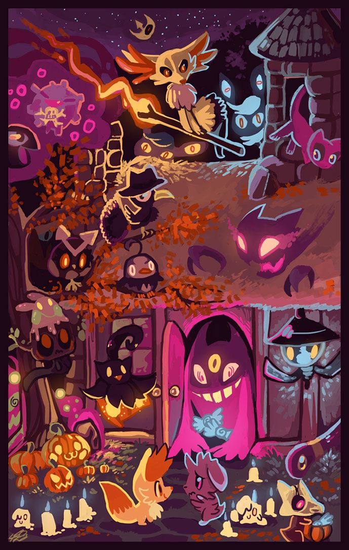 Trick or Treat! by FluffyFluffs on deviantART Cute art