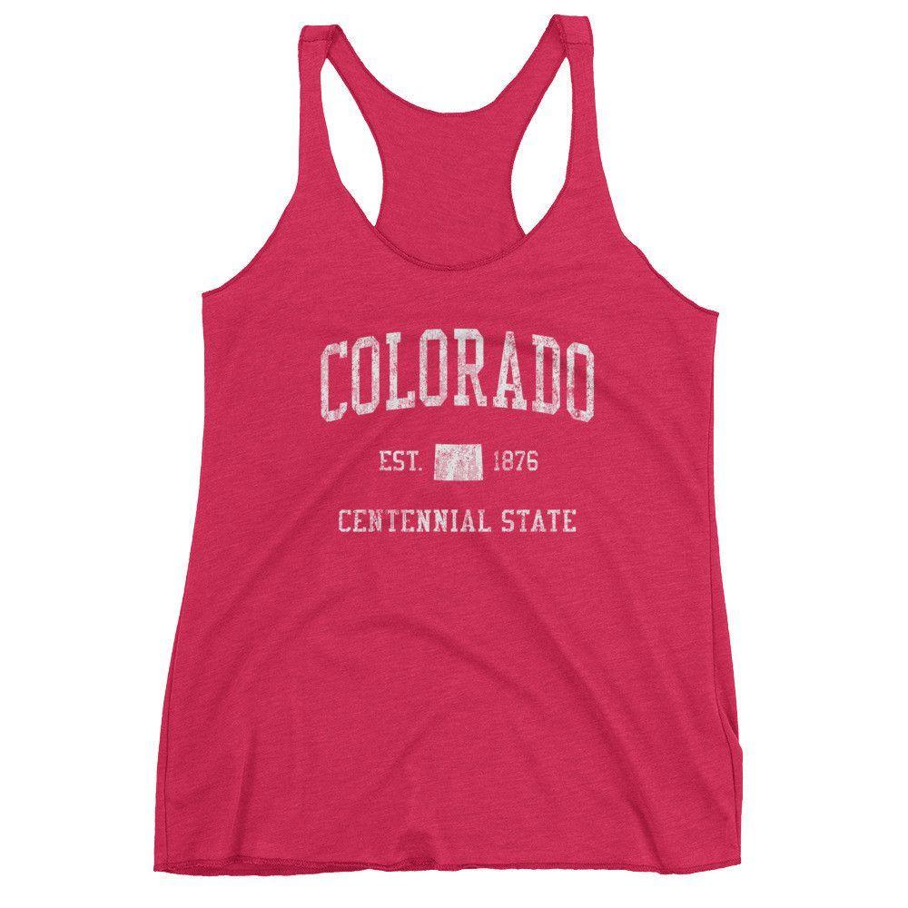 Vintage Colorado CO Women's Racerback Tank Top
