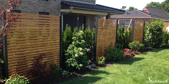 Sichtschutz Zaun Garten Terrasse Balkon Holz Metall kaufen