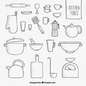 Risultati Immagini Per Utensili Cucina Disegni Libri Feltro Disegni Da Colorare Immagini