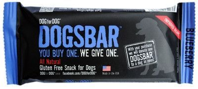 DOG TREATS - BISCUITS & COOKIE - DOGSBAR NATURAL BLUEBERRY TREATS - USA - 12 BARS/CS - DOG FOR DOG - HEART UNITED - UPC: 895770030063 - DEPT: DOG PRODUCTS