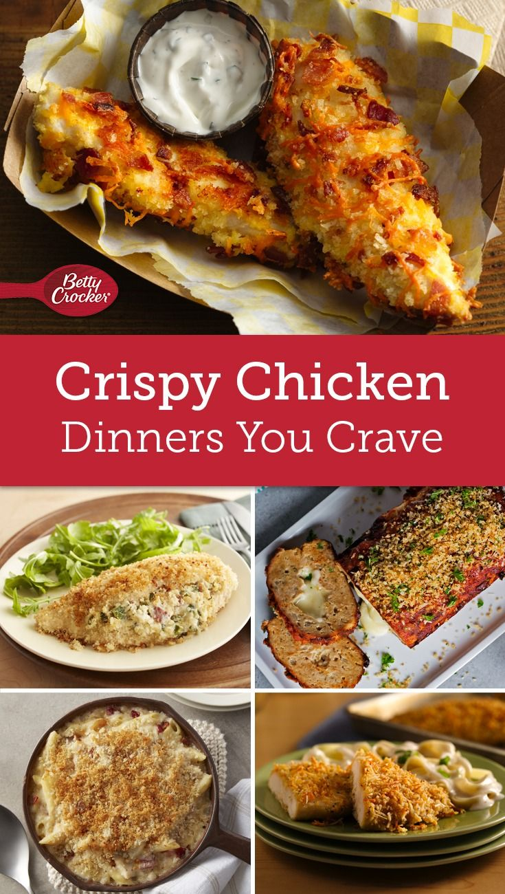 Crispy Craveable Chicken Dinners Chicken Recipes Food Recipes