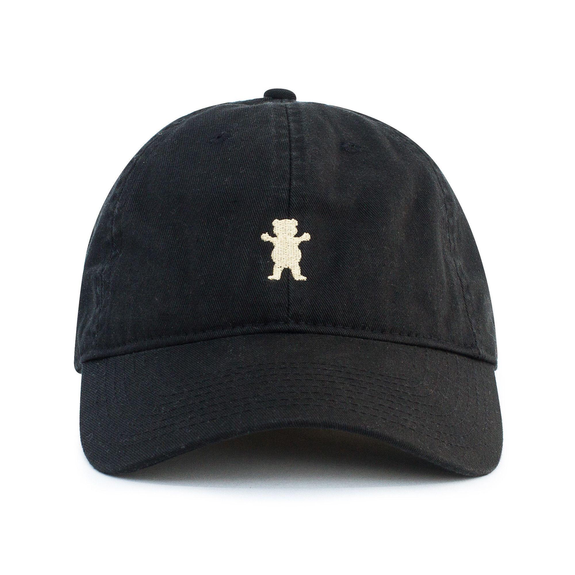 Grizzly OG Dad Bear Logo Hat Black   Gold  9efe5f38df40