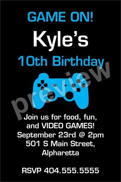 Game on video game invitation select color click to personalize game on video game invitation select color click to personalize party invitations party invitation templates and birthdays stopboris Images