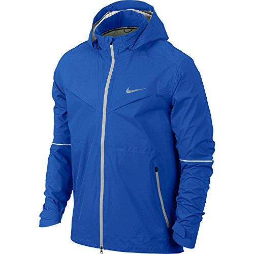 NIKE Nike Men'S Rain Runner Running Jacket, Hyper Cobalt/Light Ash Grey. #nike #cloth #