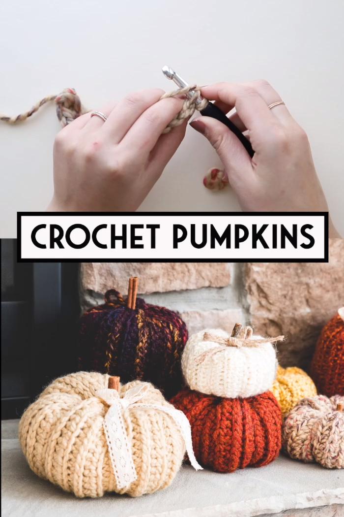 easy crochet pumpkins - video tutorial