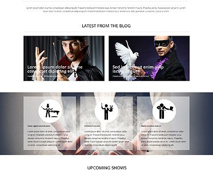 Php Website Templates 6 Stunning Website Templates Reflecting Transparent Overlays