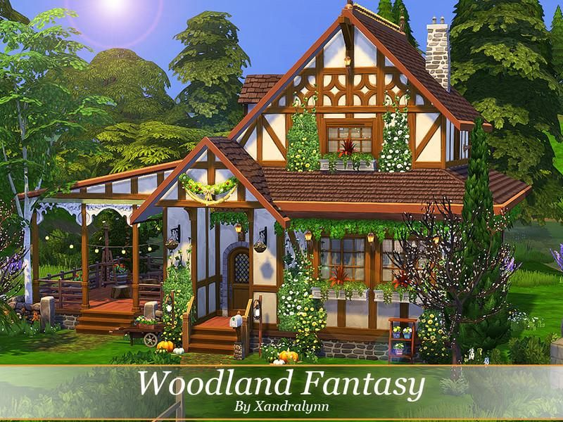 Sims4 Clove Share Asia Tổng Hợp Custom Content The Sims 4 Game Minds Woodland Fantasy By Xandralynn House The Sims 4 Sims House Fantasy House Sims 4 Houses