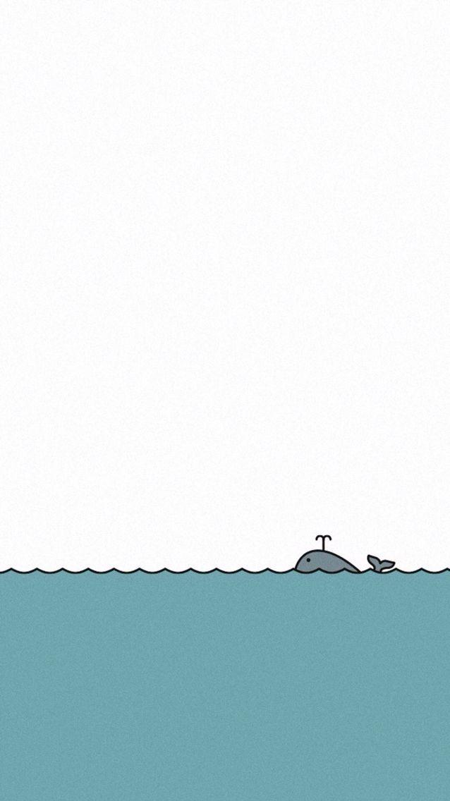 Whale Iphone Wallpaper Illus Cellphone Wallpaper Simple