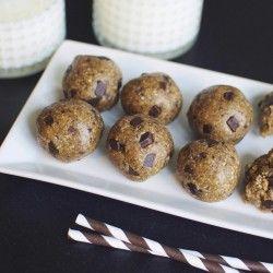Healthified cookie dough bliss balls | A Million Miles
