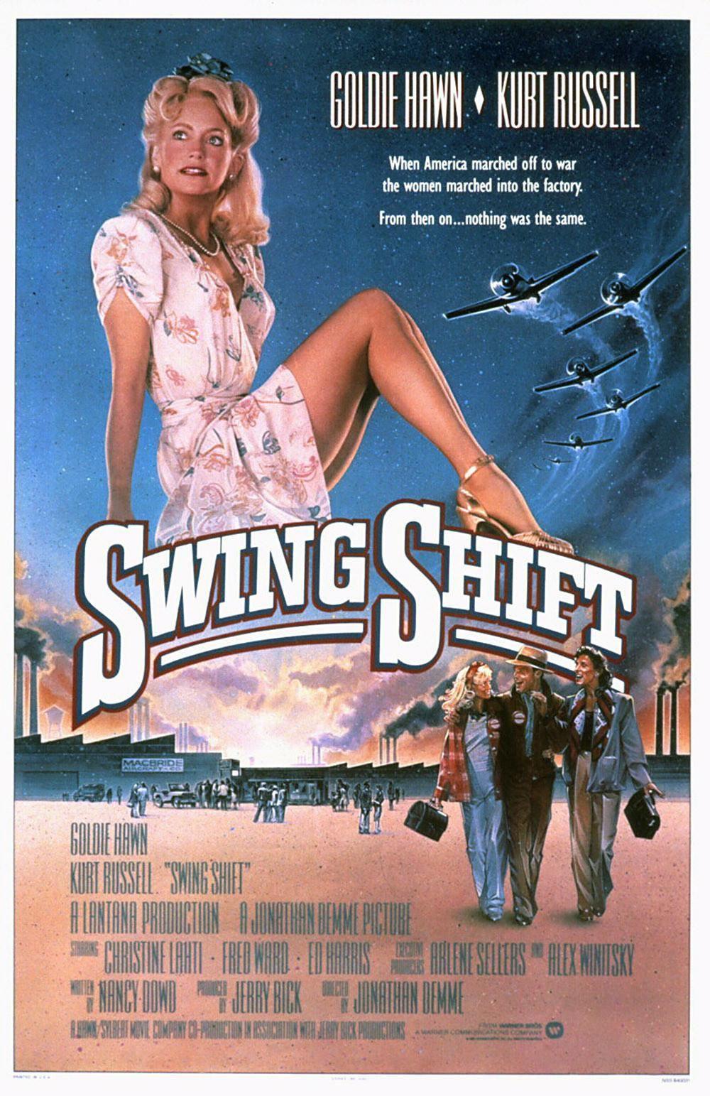 Swing Shift (1984) Movie posters vintage, Original movie