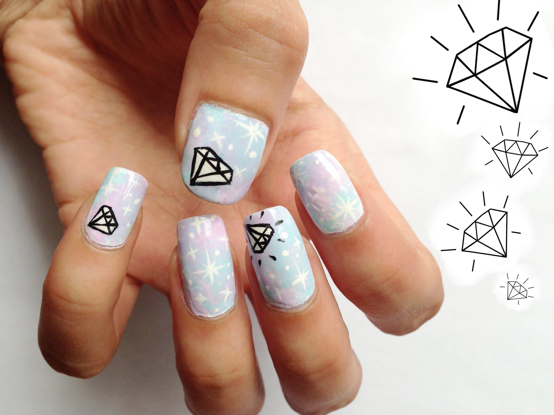 diamond nails | Nail Glam | Pinterest | Diamond nails, Diamond nail ...