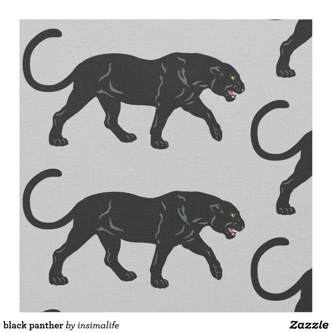 Black Panther Fabric Black Panther Printing On Fabric Fabric