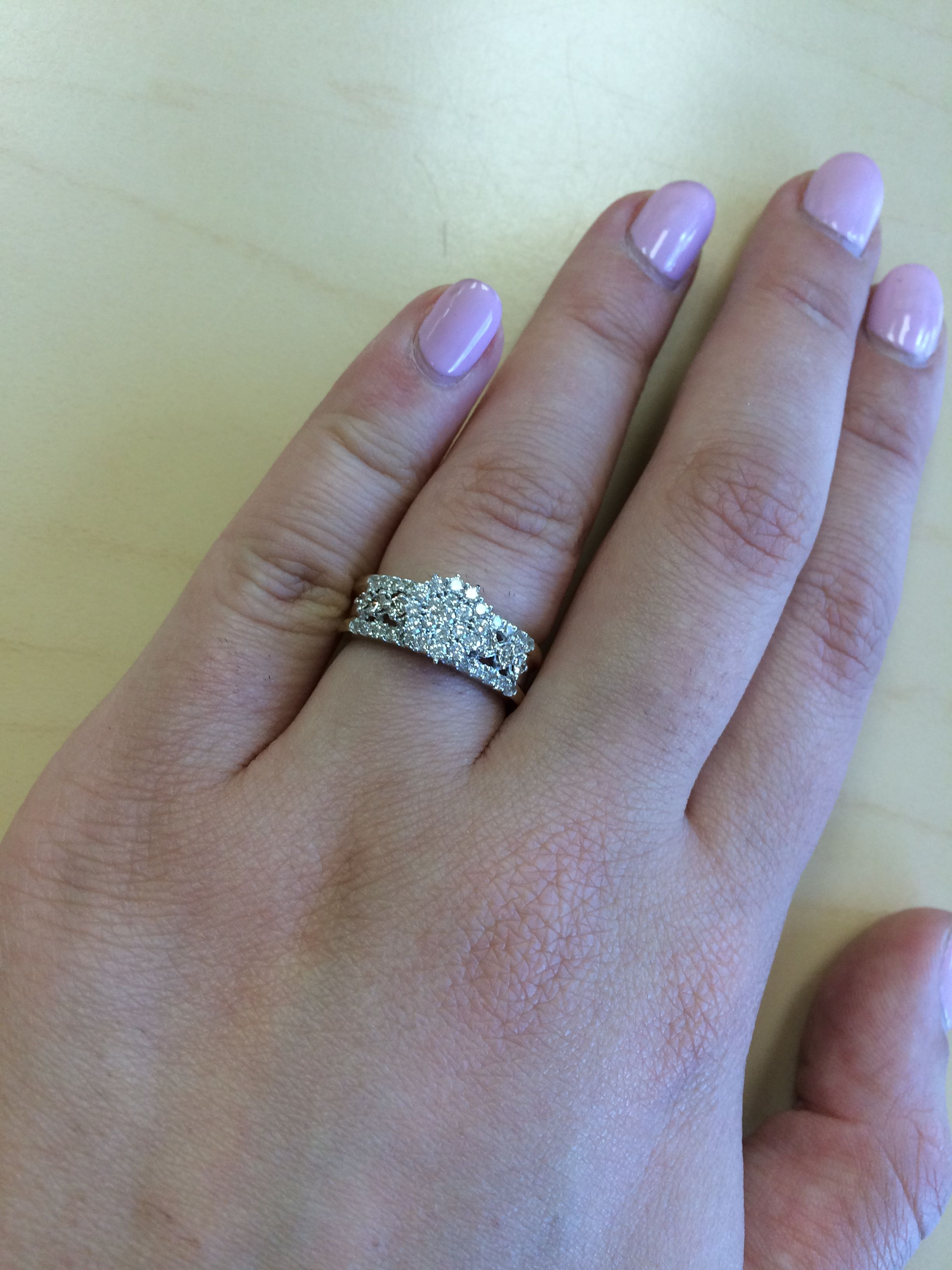 Rings on Hand Engagement Ring BT106WE. If she's the type