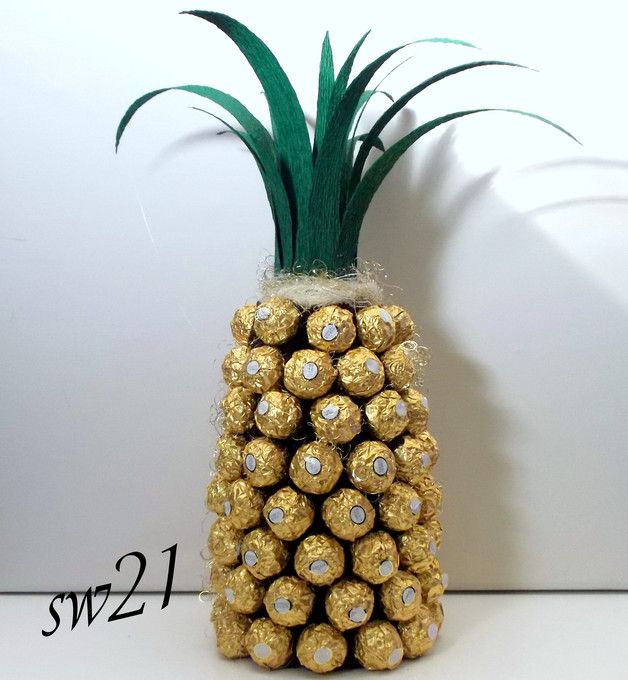 ferrero rocher ananas pralinen geschenk geburtstag bastelsachen pinterest geschenke. Black Bedroom Furniture Sets. Home Design Ideas