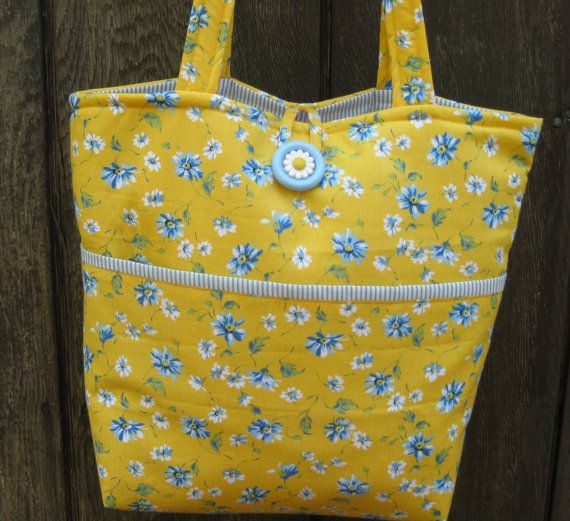 BRIGHT FUN TOTE Bag Sholder Bag Hand Bag by ByFreddismom on Etsy, $14.95
