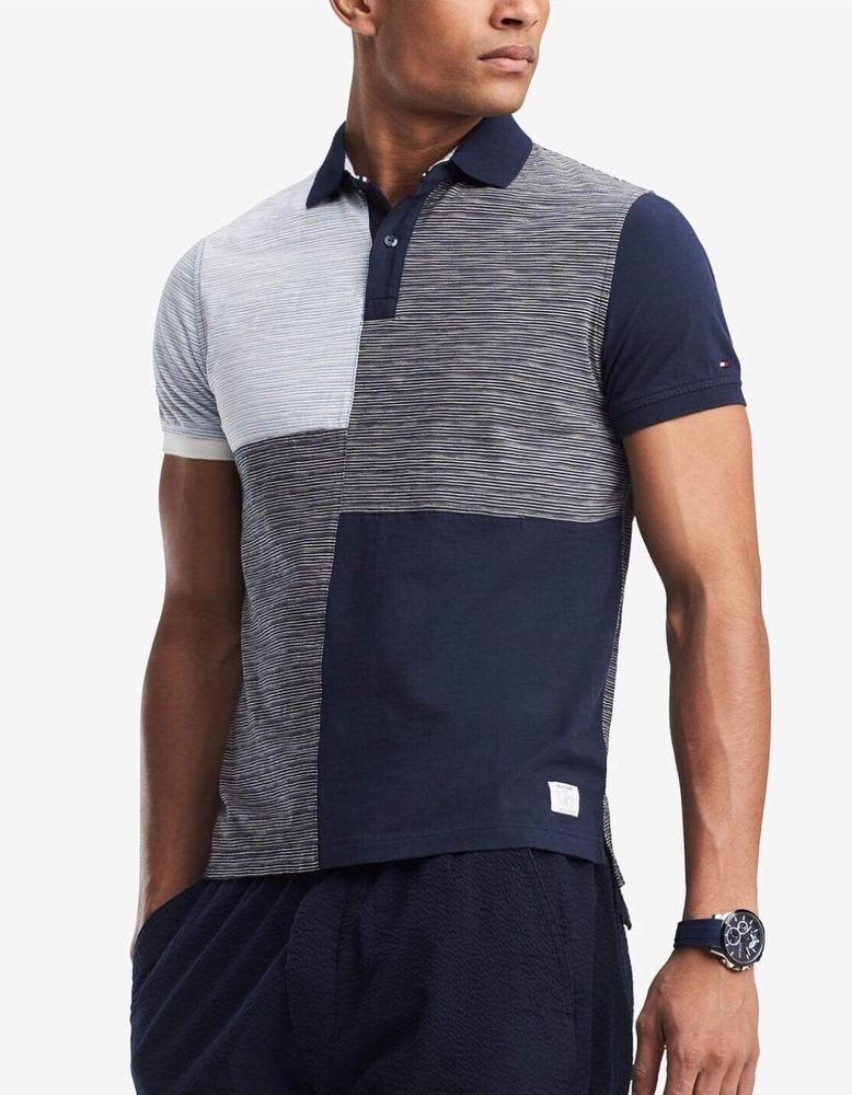 20a1f664 Tommy Hilfiger Men's Ben Colorblocked Custom Fit Polo Size: M #TommyHilfiger