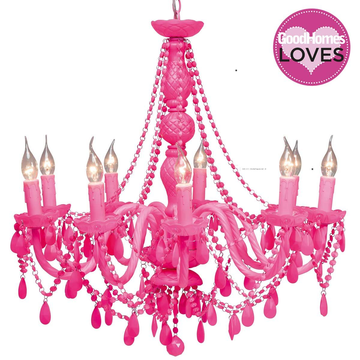 Crystal Chandelier Chandeliers Lighting with Pink Color