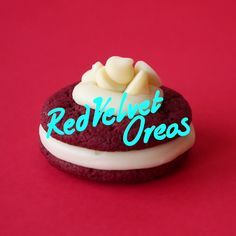 Double stuffed cream cheese frosting Red velvet oreos.