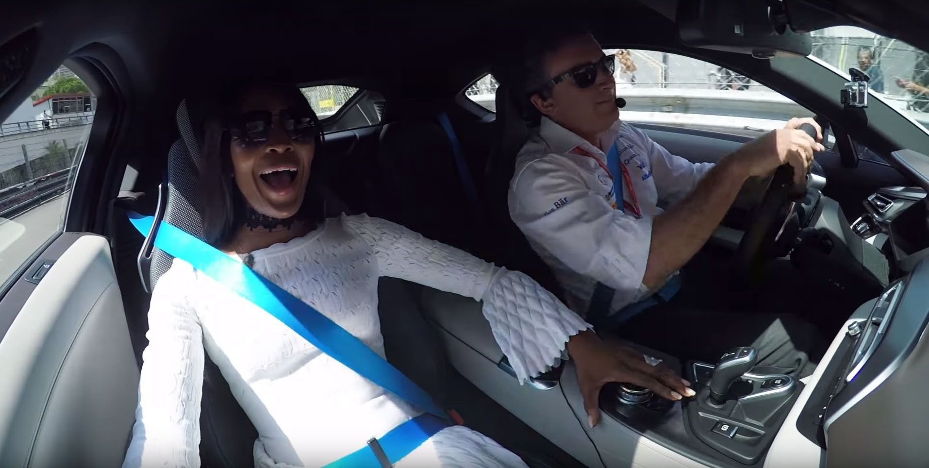 Video Naomi Campbell Goes for Monaco Hot Lap Inside BMW i8  http