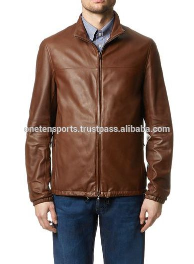 Men High Quality Brown Nappa Buffalo Leather Jacket In Pakistan