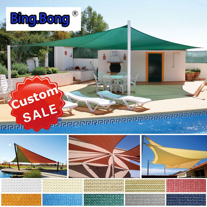 Sail Shade Custom Outdoor Gazebo Roof Tents Toldo Hdpe Sun Shading Net Garden Canopy Sunscreen Uv Sun Shade Sail Aw Outdoor Awnings Gazebo Roof Sun Sail Shade