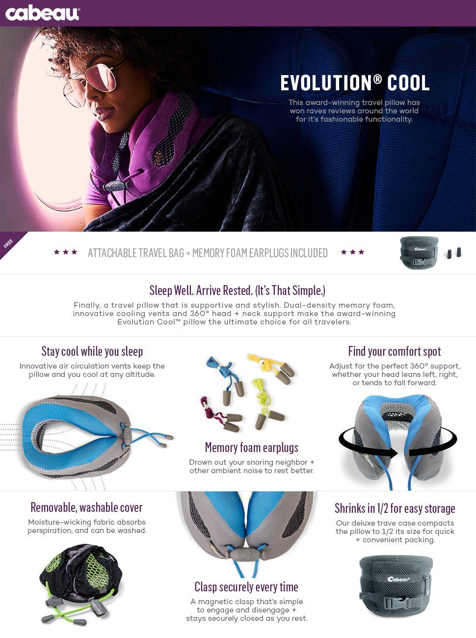 amazoncom cabeau evolution cool travel pillow the best neck pillow with 360 - Cabeau Evolution Pillow