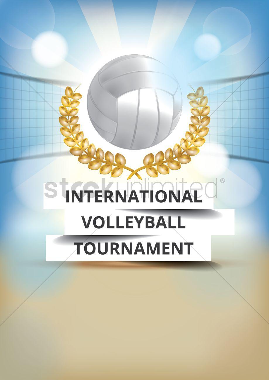 International Volleyball Tournament Poster Design Stock Vector Affiliate Tournament Volleyball Internation Volleyball Tournaments Poster Design Design