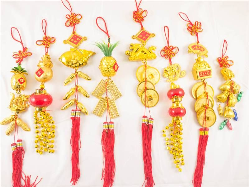 d01c4916556 Feng Shui Lucky Hanging Charms Chinese New Year Symbols Car Wall Decoration  Luck