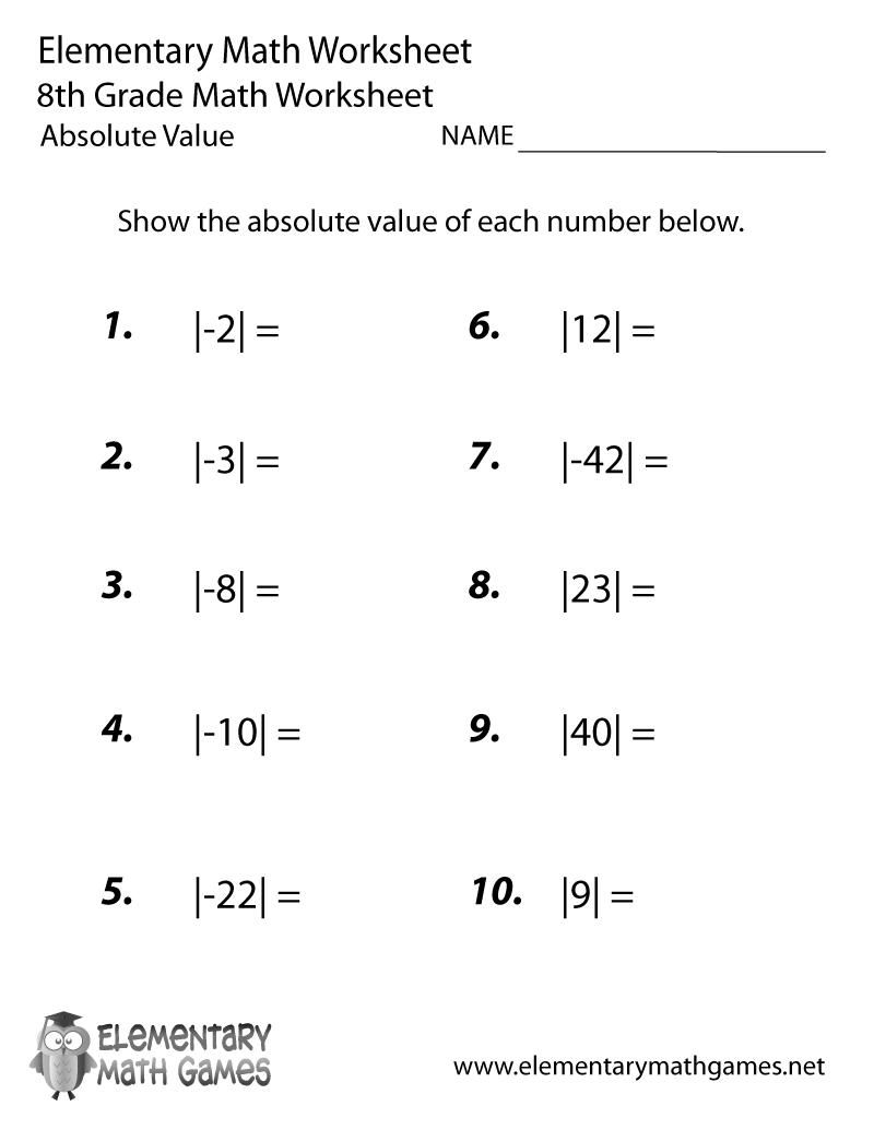 38 8th Grade Math Printable Worksheets Matematika Proposal Surat