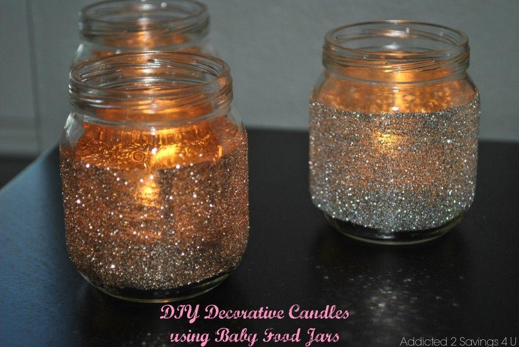 Decorative Jars Inspiration Diy Decorative Glitter Candle Holders  Food Jar Jar And Craft Inspiration