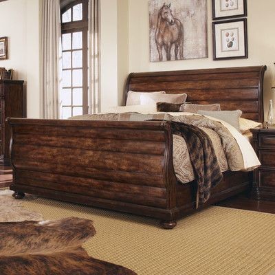 A.R.T. Whiskey Sleigh Bed Size: California King