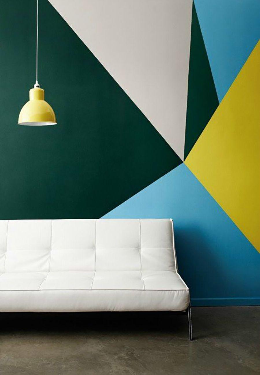 Las figuras geom tricas la nueva tendencia en el dise o - Disenos para pintar paredes ...