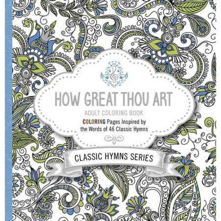 How Great Thou Art Adult Coloring Book, Black