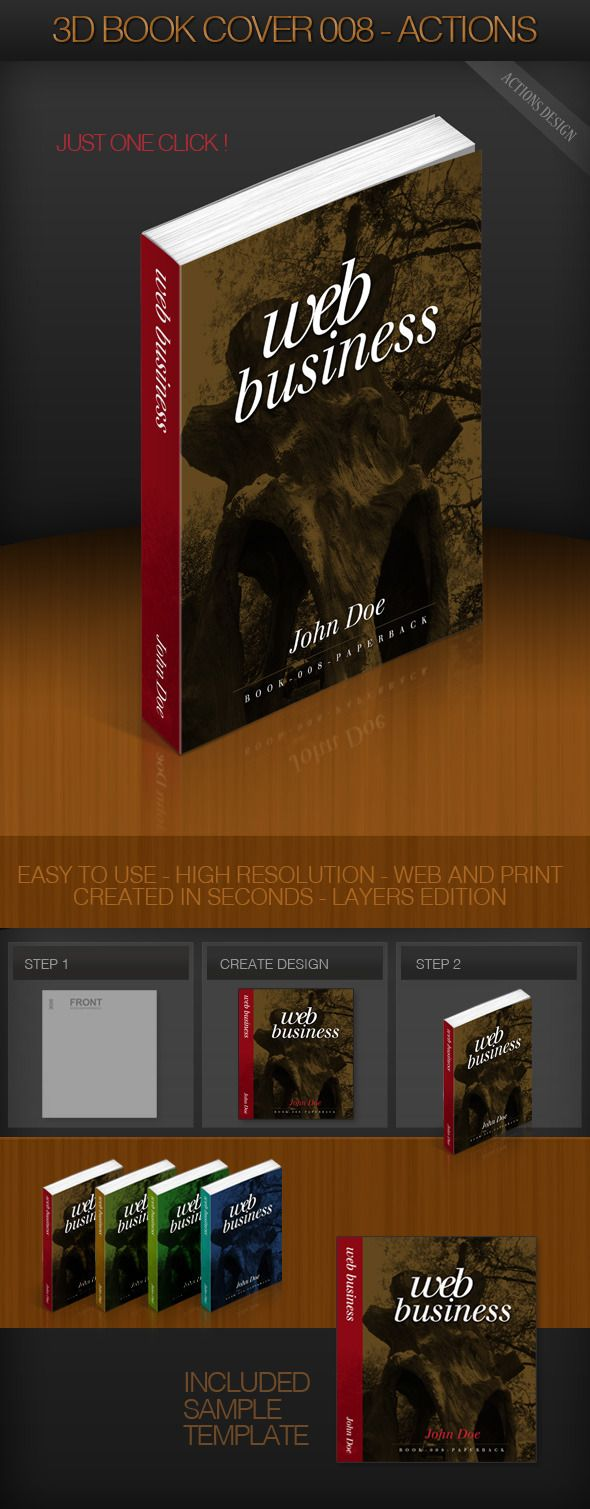3d book cover 008 paperback layered psd paperback book
